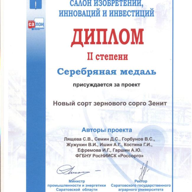 Диплом VIII Саратовский слон